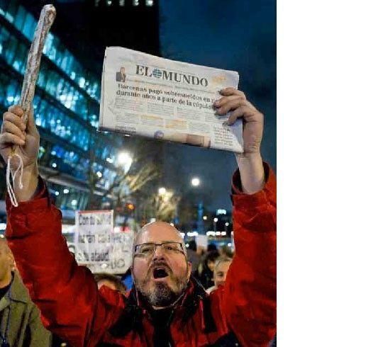El periódico El Mundo protagoniza hoy el periodismo en España