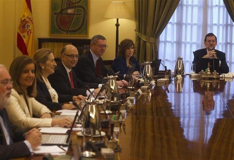Consejo de ministros del Gobierno Rajoy