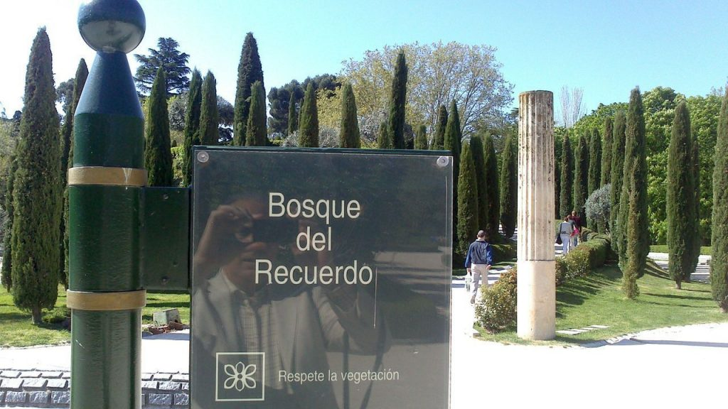 El bosque del recuerdo en el Parque del Retiro. Madrid