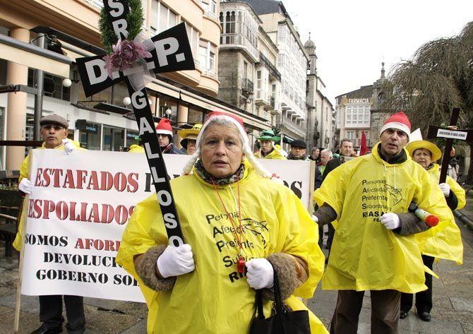 manifestación en Lugo por la Banca. Preferentes.
