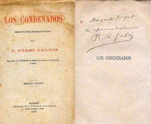 Dedicatorio manuscrita por Benito Pérez Galdós