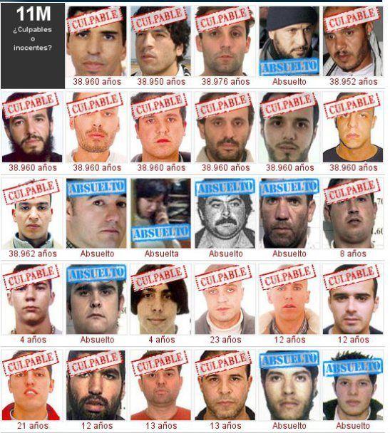 los culpables y los inocentes tras el jucio de la verdad oficial del 11m