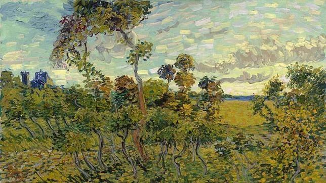 La nueva obra de Van Gogh. «Puesta de sol en Montmajour», de 1888,