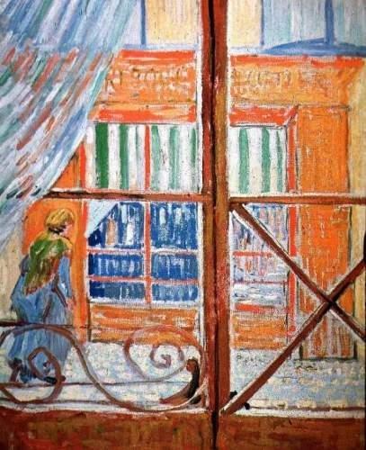 La charcutería desde una ventana de Van Gogh