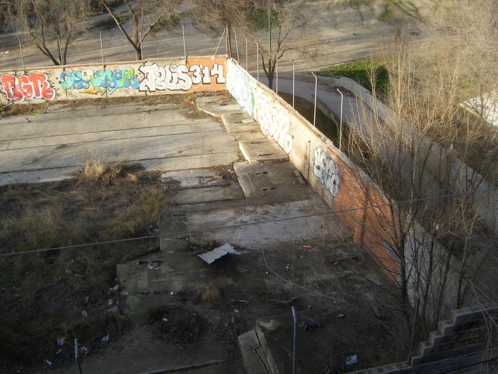 Lugar en el que se habilitó el cobertizo con los restos de la explosión.