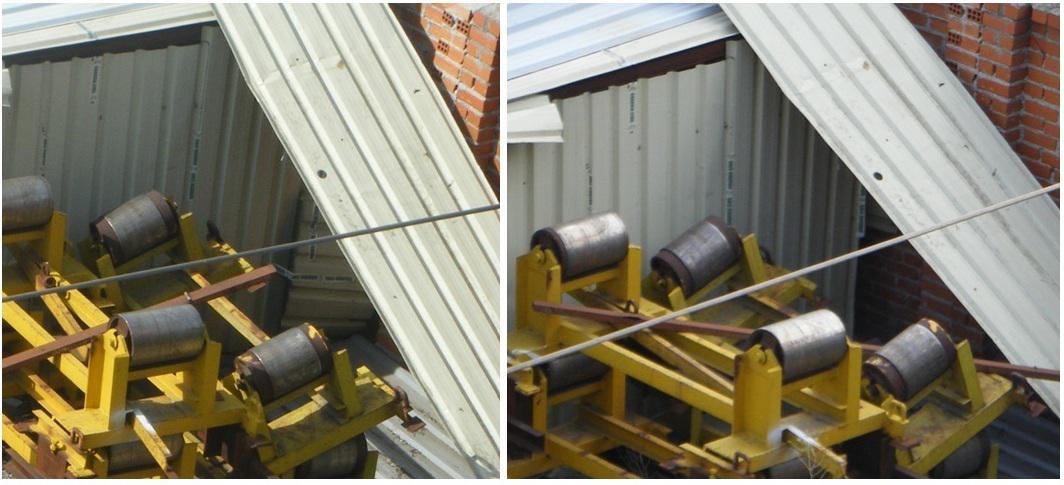 Foto 15.- Violación de precintos y apertura de una entrada entre el 13 y el 26 de junio de 2012