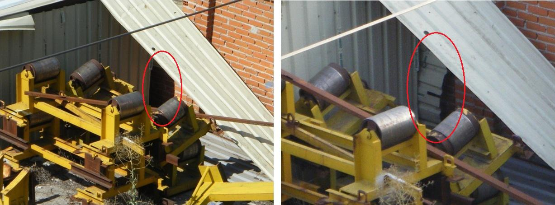 Foto 16.- el 20 de agosto aparece una nueva chapa en el hueco abierto