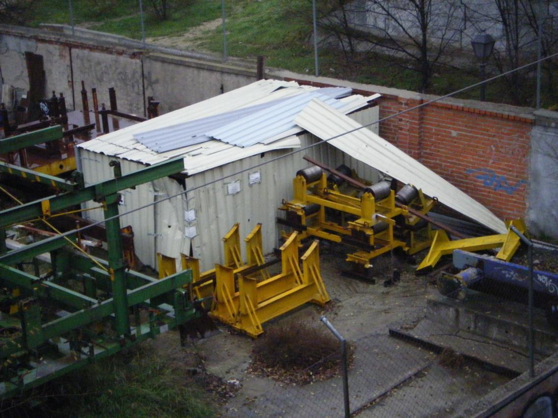 Foto 18.- El cobertizo el 20 de diciembre de 2012
