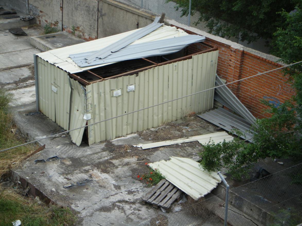 Foto 21.- El cobertizo el 14 de mayo de 2013