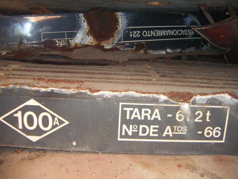 Foto 41.- Inscripción en el suelo del foco de Santa Eugenia el 16 de septiembre de 2013