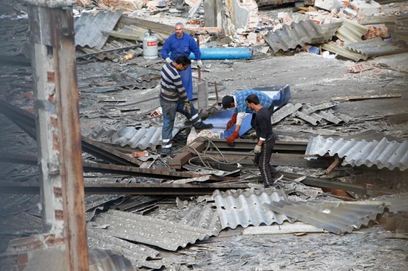Foto 60.- Continúan los destrozos y el expolio el 26 de octubre