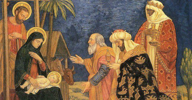 Los reyes magos friso del siglo VI