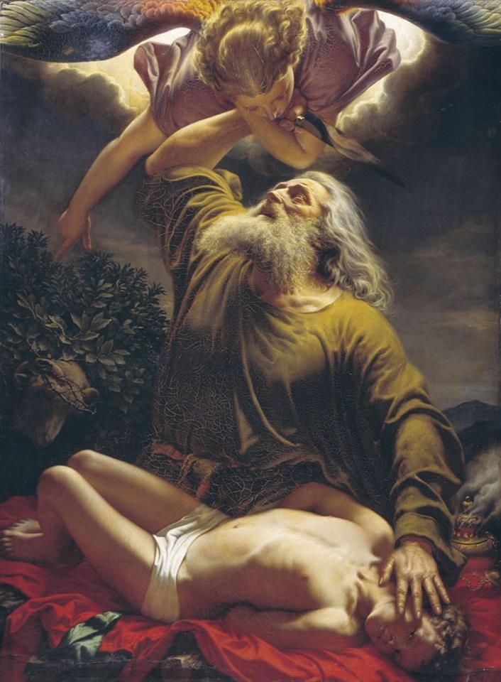 Abraham sacrificando a Isaac obra de Gerhardt Wilhelm von Reutern