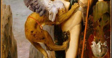 Edipo y la esfinge de Gustave Moreau
