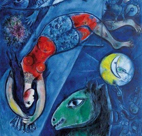El circo azul de Mark Chagall