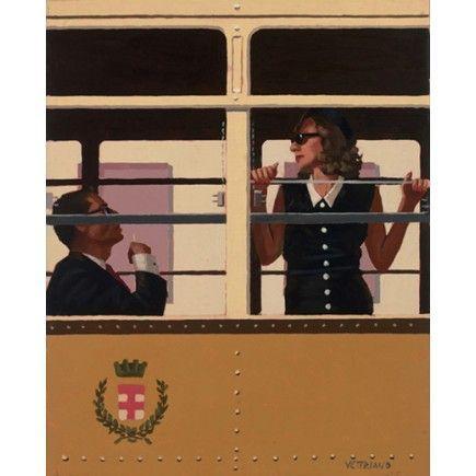 El tranvía de Milán de Jack Vettriano