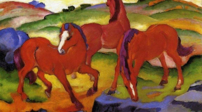 los-caballos-rojos-de-franz-marc