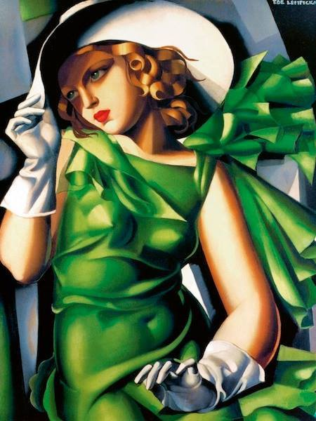 Tamara de Lempicka: Señora joven con guantes