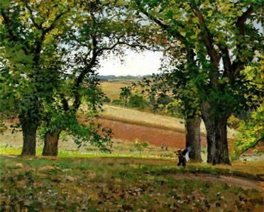 Castaños en Osny de Camille Pissarro