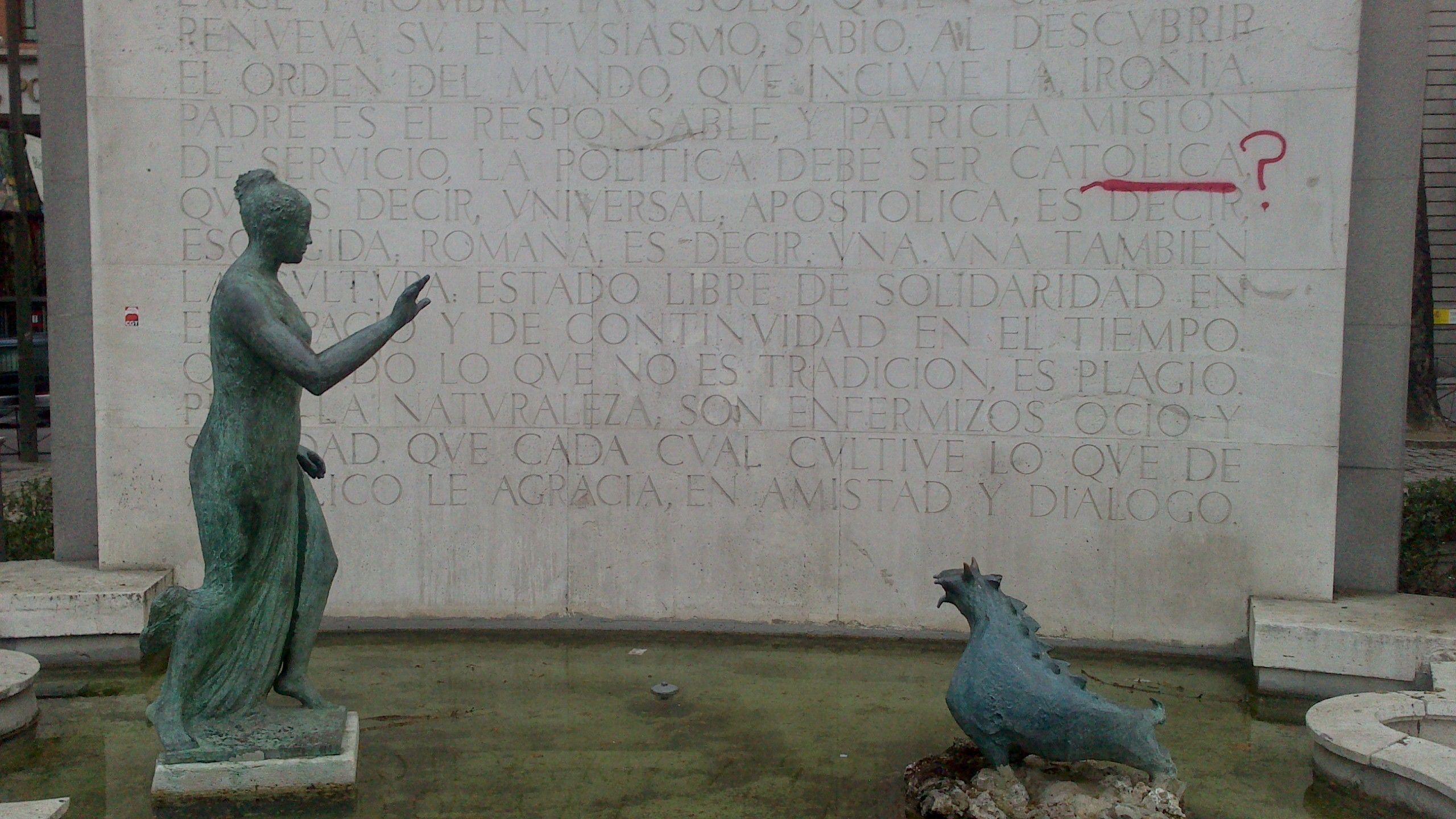 El Monumento a Eugenio D'Ors en el Paseo del Prado