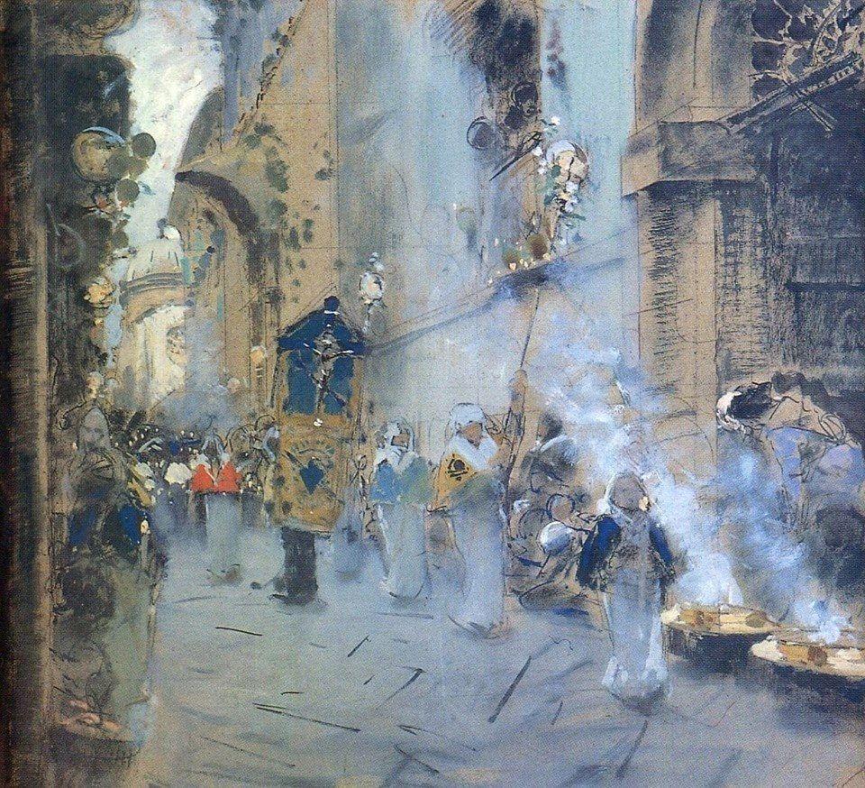 Francesco Paolo Michetti Procesión de viernes santo