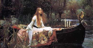 "La dama de Shalott"", original de John William Waterhouse"