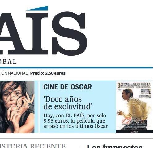 portada EL PAIS domingo 27 abril
