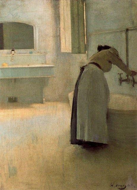 Ramón Casas i Carbó Preparando el baño