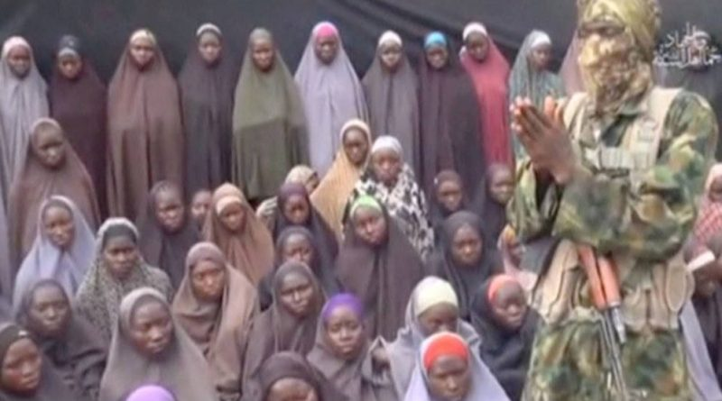 Una de las últimas imágenes de las niñas secuestradas por Boko Haram