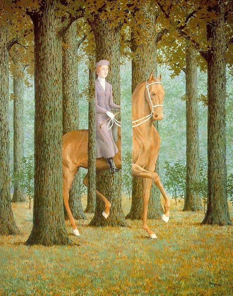La firma en blanco de Magritte
