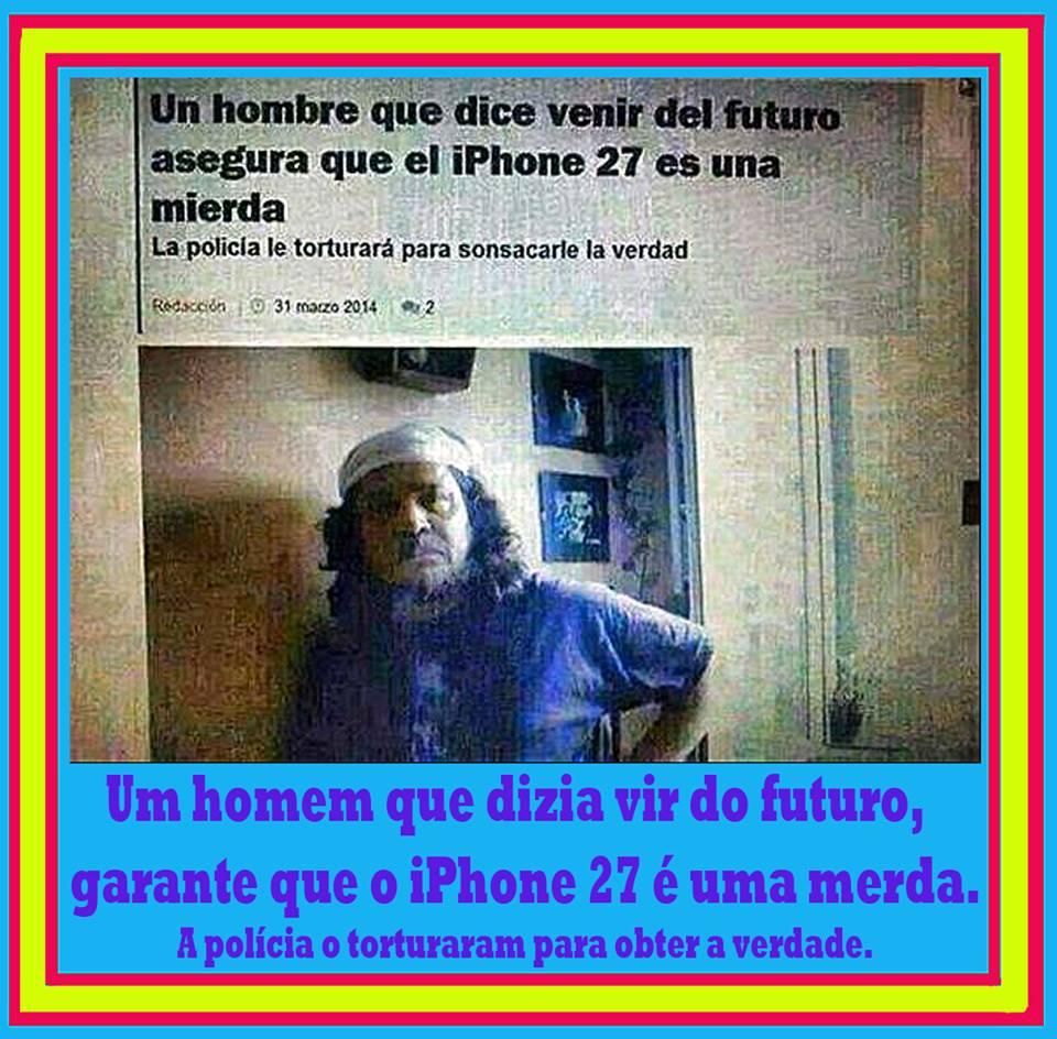 El hombre del futuro y el iPhone