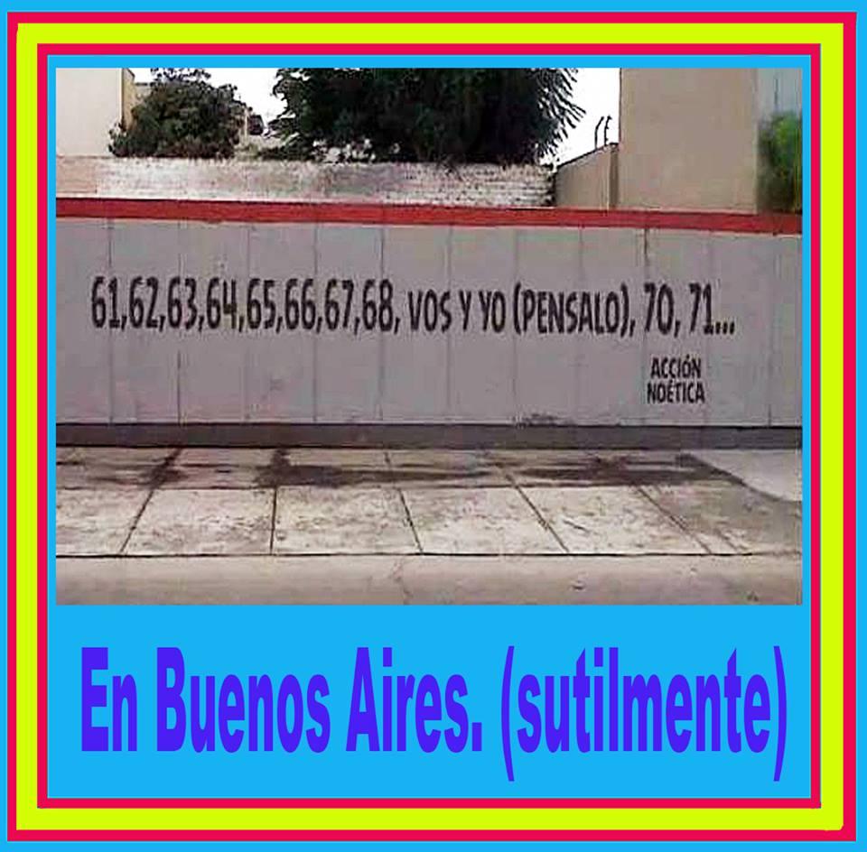 En Buenos Aires sutilmente