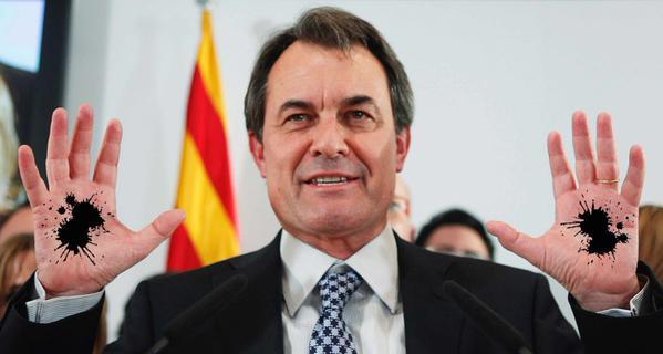 el Artur Mas el de las manos manchadas
