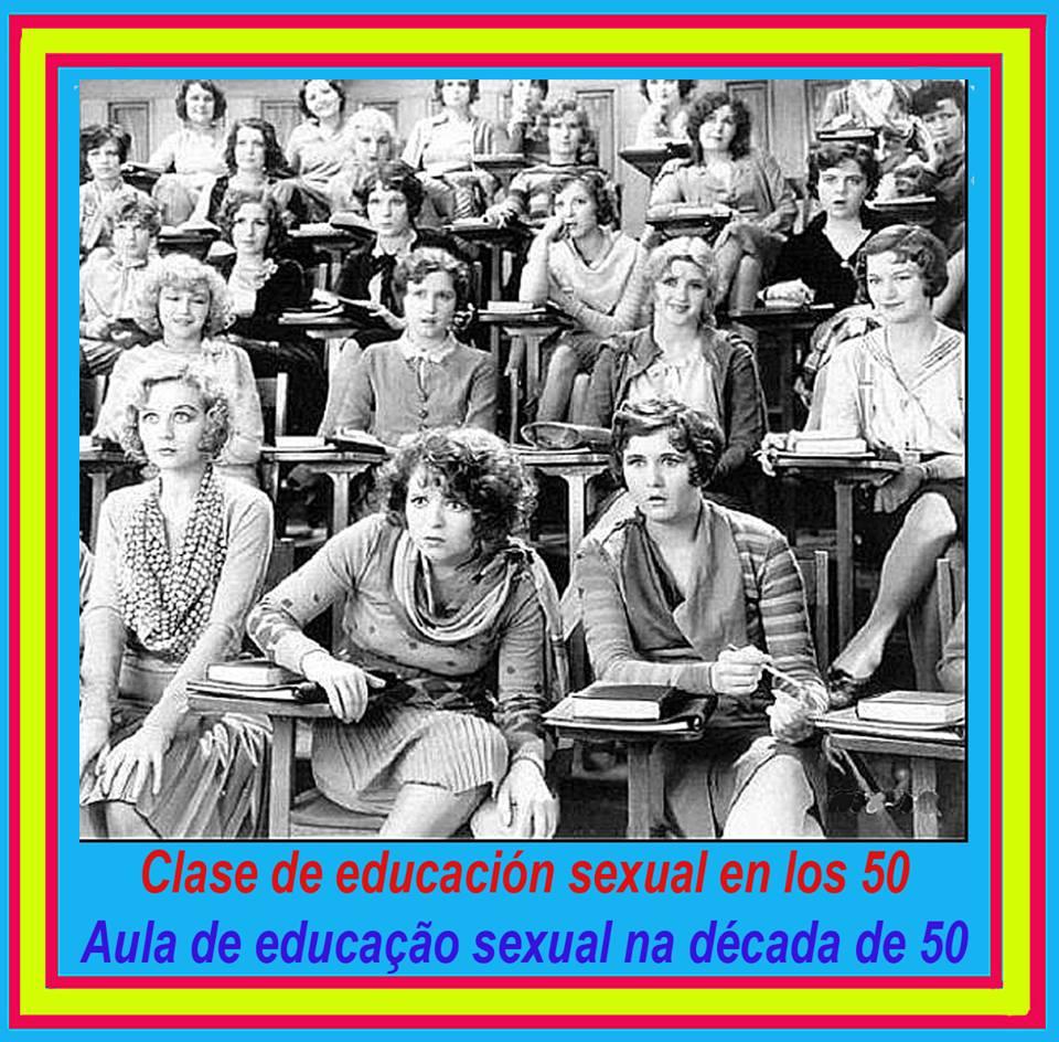 Clase de educación sexual en los cincuenta