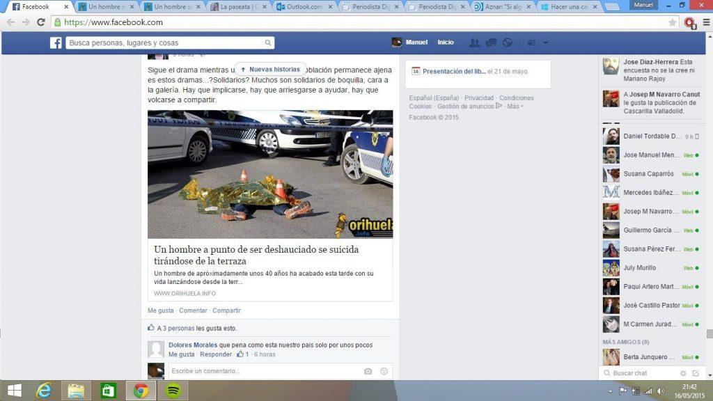 Primera edición periódico Orihuela sábado 16 mayo 2015