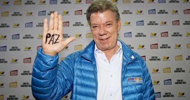 La paz en la mano deJuan Manuel Santos