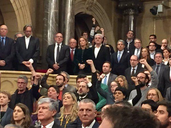 Imagen de la solemne sesión de investidura del nuevo presidente de la Generalitat de Cataluña.