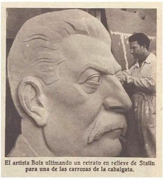 Stalin en la cabalgata