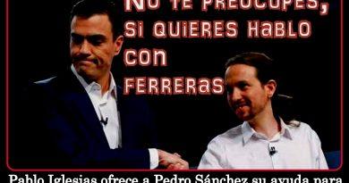 Pablo Iglesias ofrece a Pero Sánchez sy ayuda...