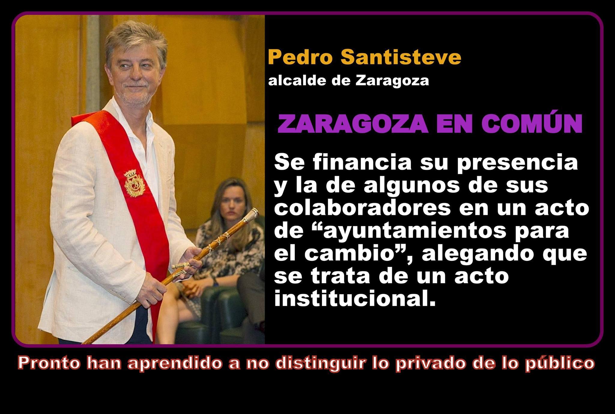 Pedro Santiesteve el alcalde de Zaragoza tampoco distingue lo privado de lo público