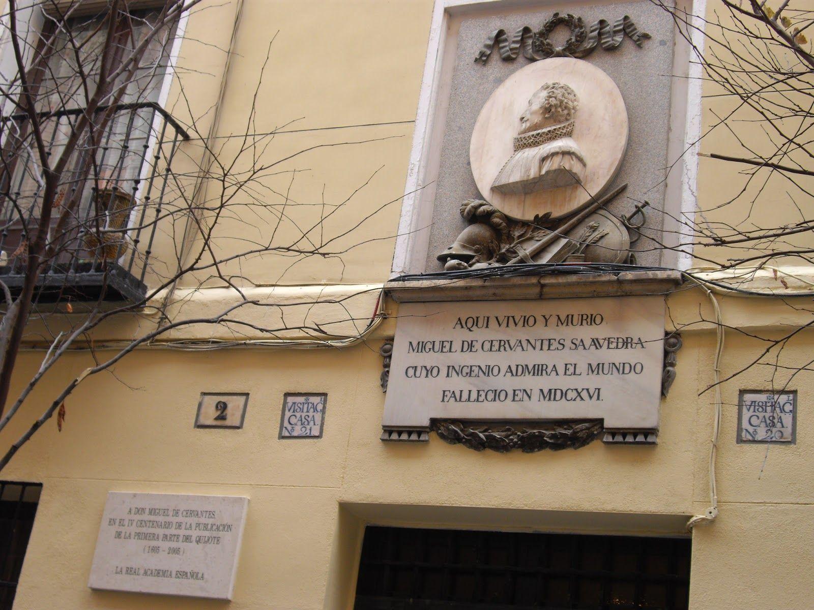 Aquí vivió y murio don Miguel de Cervantes