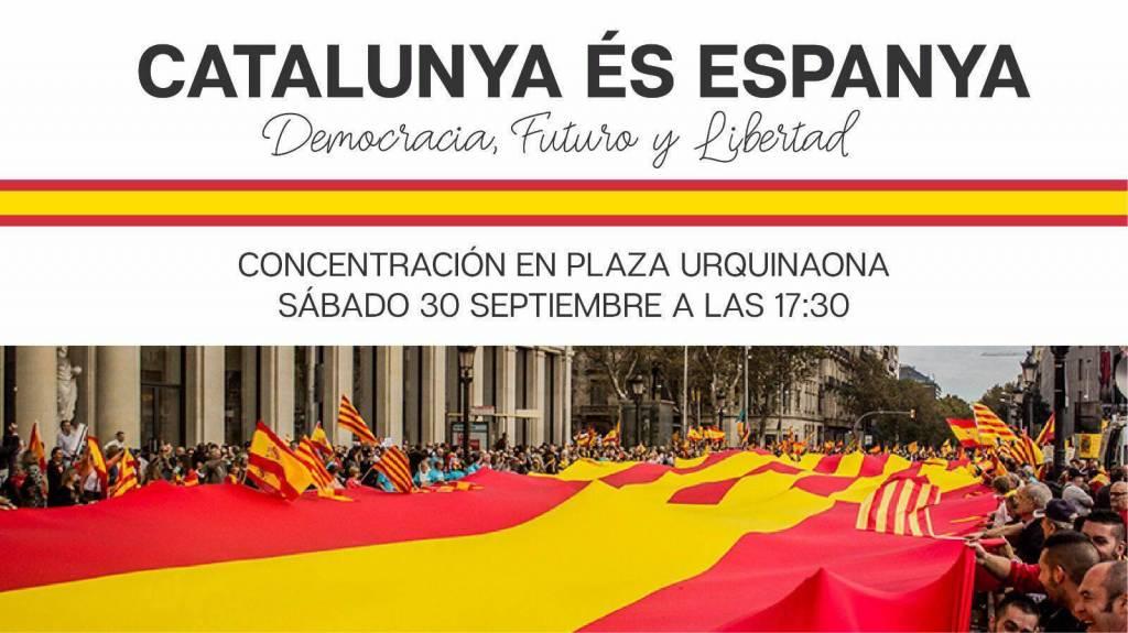 El sábado, 30 de septiembre, tendré el enorme honor de ser una de personas que porte la pancarta de 8 metros que encabezará la Manifestación en Barcelona