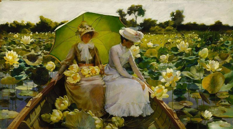 Charles Courtney Curran Nénuphars