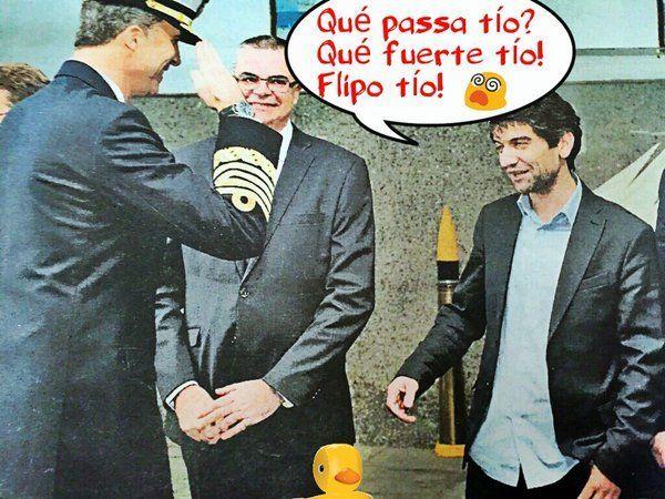 El Rey saluda al alcalde podemita de Ferrol del Canutillo. Qué bajo hemos caído