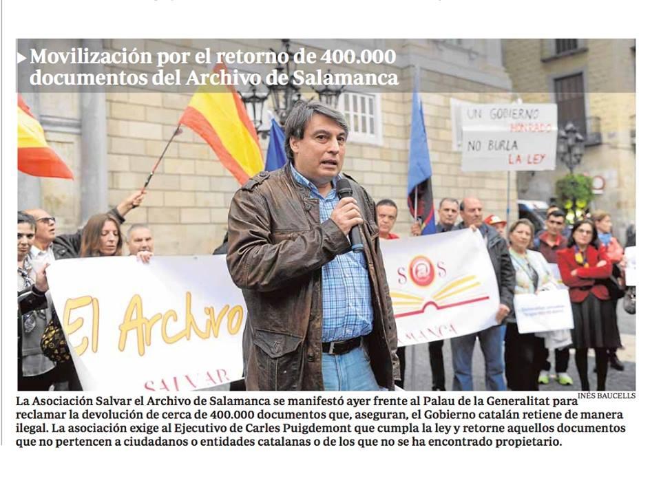 Manifestación El Archivo nos une