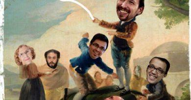 Apedreando al periodista mientras Pablo da cuerda a la cometa