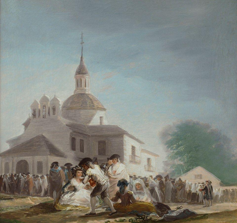 La ermita de San Isidro el día de la fiesta