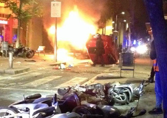 la violencia de los okupas en Barcelona