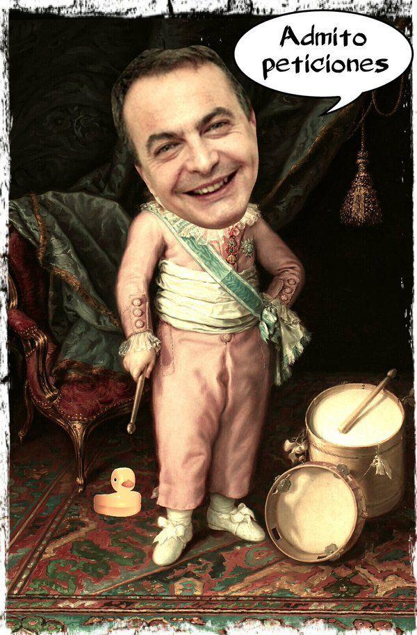 Zapatero es contratado para tocar la pandereta y el tamboril en el palacio de Maduro