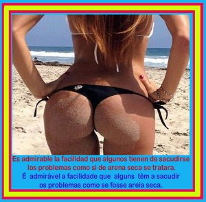 Es admirable la facilidad de algunos para sacudirse los problemas...